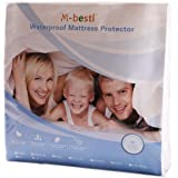 M-bestl Luxury Mattress Protector,Mattress Cover,100% Waterproof and Breathable,Fitted Sheet Style Design -10 Years Warranty(Twin)