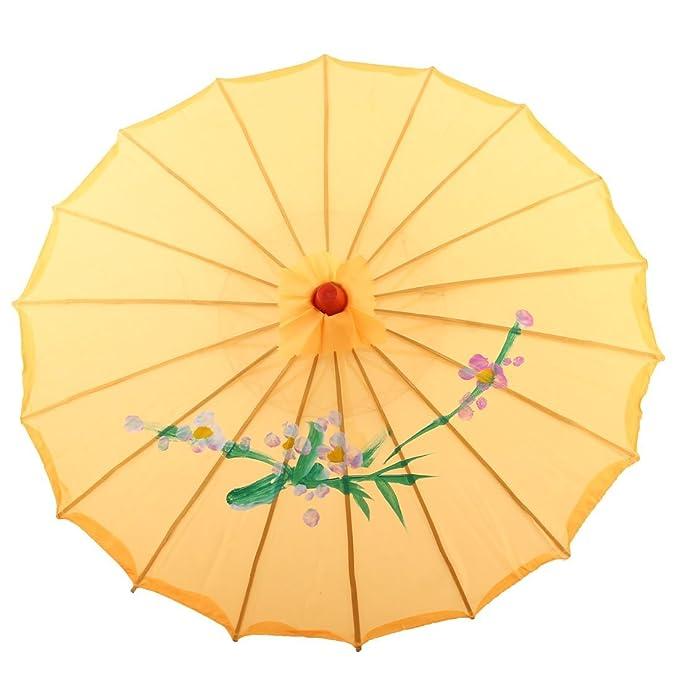 Amazon.com: eDealMax Marco de la Flor del patrón de bambú Sombrilla Parasol paraguas artesanales Regalo colgantes Bailar: Home & Kitchen