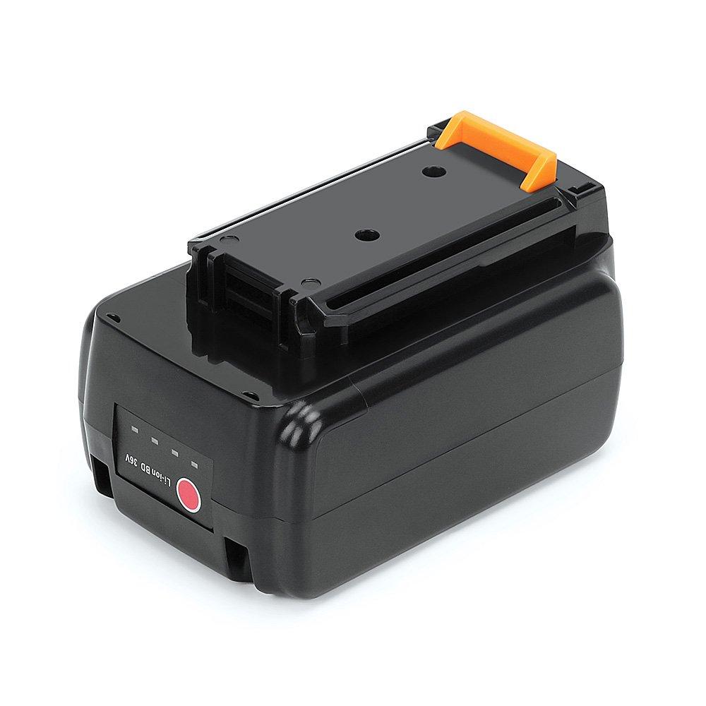 New Version LBX2040 36V (40V MAX)2.0Ah Lithium Ion Battery Replacement for BLACK+DECKER LBXR36 LBX2040 LBXR2036 LST540 LCS1240 LBX1540 LST136W Series Cordless Power Tool(Black)