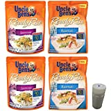 Uncle Bens Ready Rice Pouch Combo Pack. Basmati and Jasmine Varieties. Easy One-Stop Shopping to Prepare Healthy Family Dinners. Includes 4 oz Morton Salt Shaker.