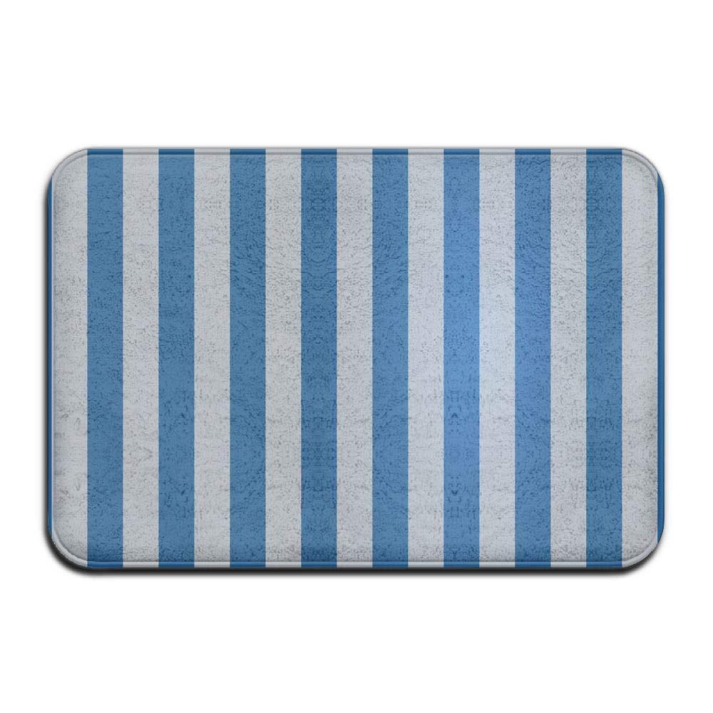 Amazoncom Haidilun White And Blue Stripe Bathroom Rugs Non Slip