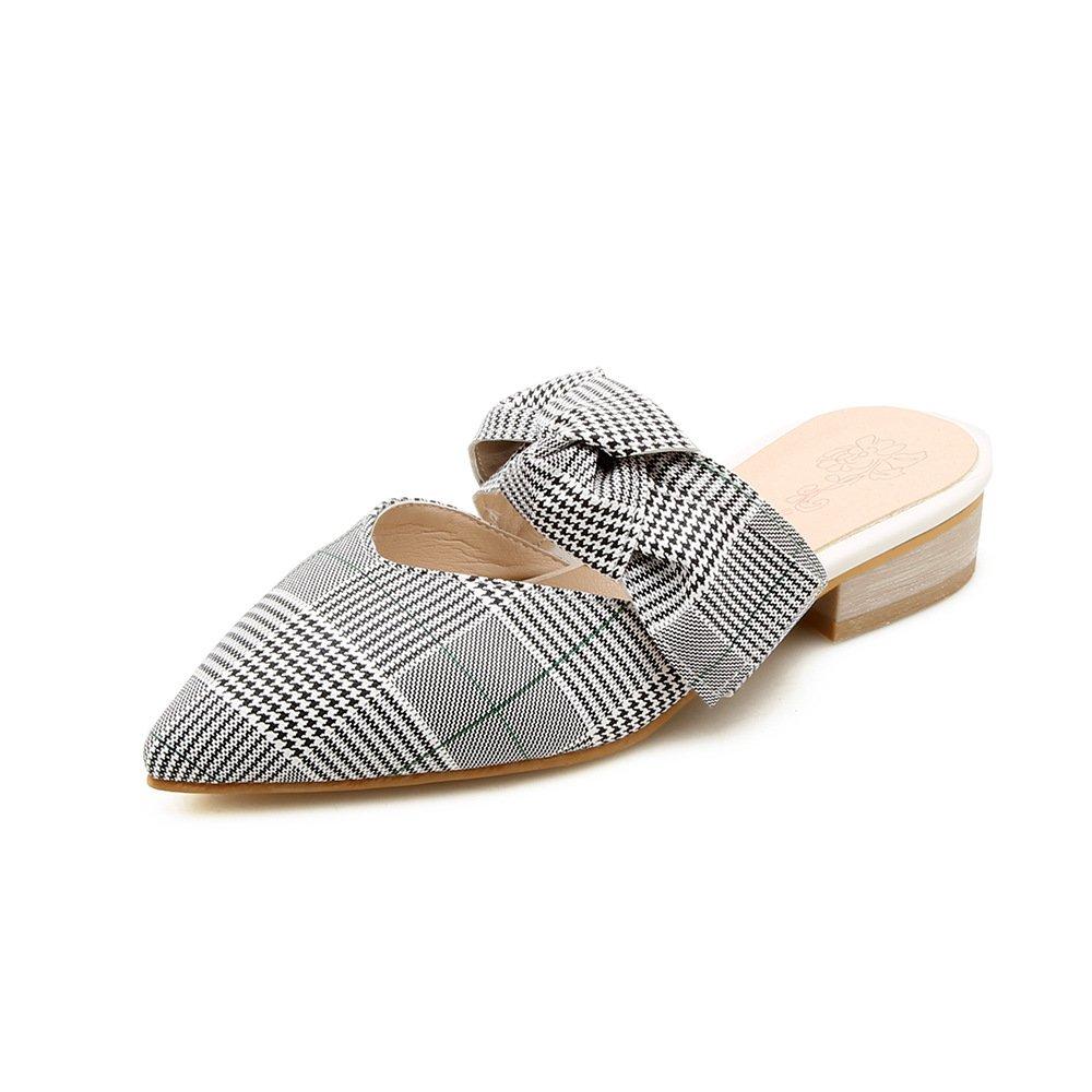 Damen Sandalen Vintage Wies Mode Gitter Groß Niedrig - Verfolgte Flip Flop