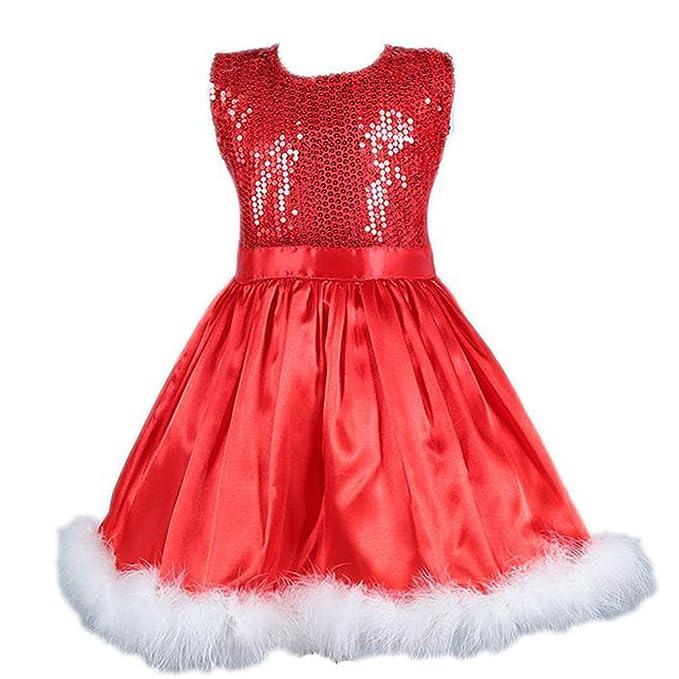 ddellk Trajes de Navidad para niñas, Vestido de Princesa con ...