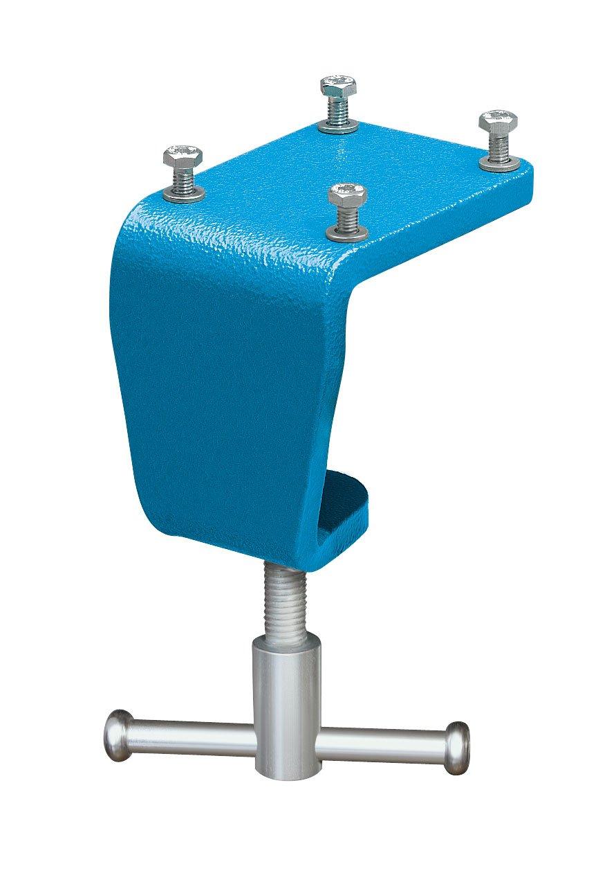 Heuer 4661940 Tischklemme/Tischklammer | Flexibles Befestigen von Schraubstock an Arbeitsplatte ohne Bohren, Platz sparend | Gewicht: 1,0 kg, Tischsstä rke : 10-60 mm, von, 100