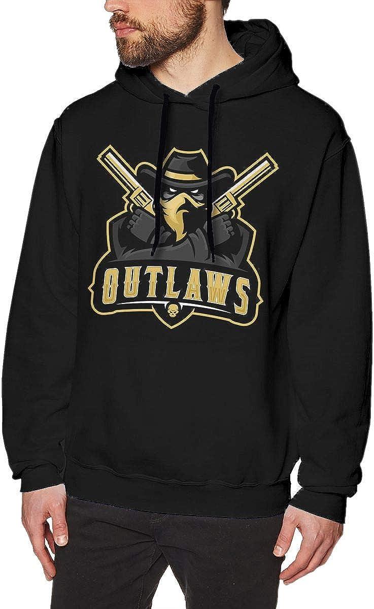MUSICOT Lea-guep-edia Mens Pullover Hooded Sweatshirt Cozy Sport Outwear Black