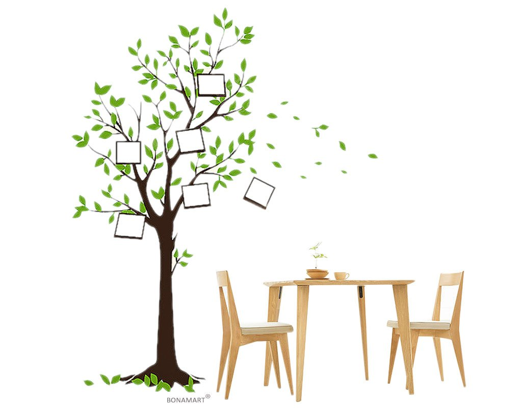 BONAMART ® Wishing tree photo nursery kids room removable quote vinyl wall decals stickers JM7124