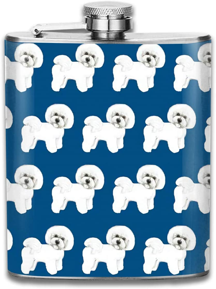 Regalo de tela azul Bichon Frise para hombres Frasco de ...