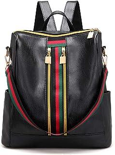 add6ffb1ad1 Amazon.com: Mynos Backpack Bag Women Mini Rucksack Travel Bookbag ...