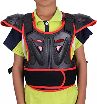 Kids Body Chest Spine Protector Armor Protective Vest Gear For Cycling Skiing