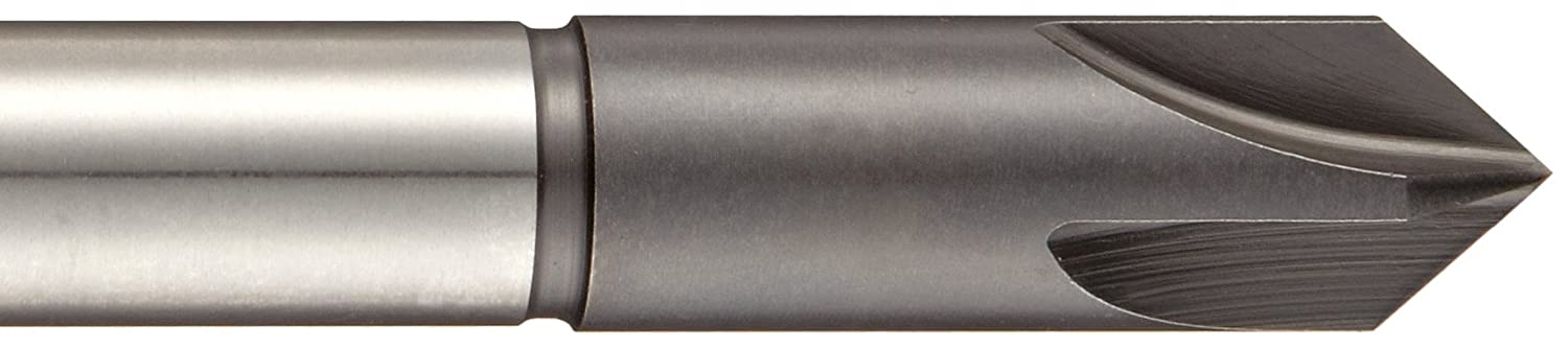 Finish 1//4 Shank Dia 82 Degrees 3//8 Body Dia. Union Butterfield 4603 Series High-Speed Steel Single-End Countersink Bright Single Flute Uncoated
