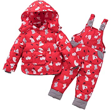 Niños Traje de Nieve Invierno Niña Al Aire Libre Impermeable ...