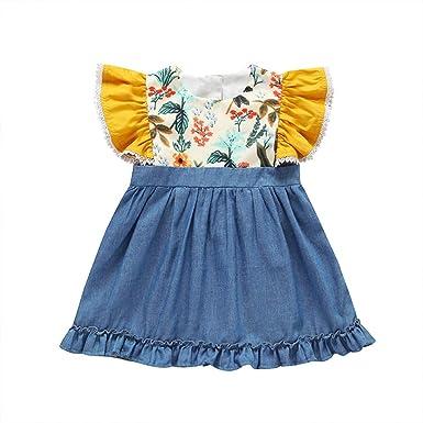 83ea42ed8e1b1 Amazon.com: Cuekondy Toddler Baby Girls Kids 2019 Summer Fashion ...