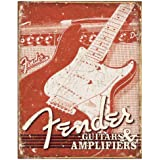 Fender® Weathered Tin Sign