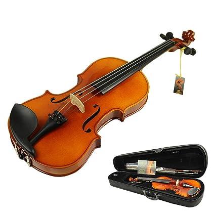 Violino Violino acustico di legno naturale fatto a mano con