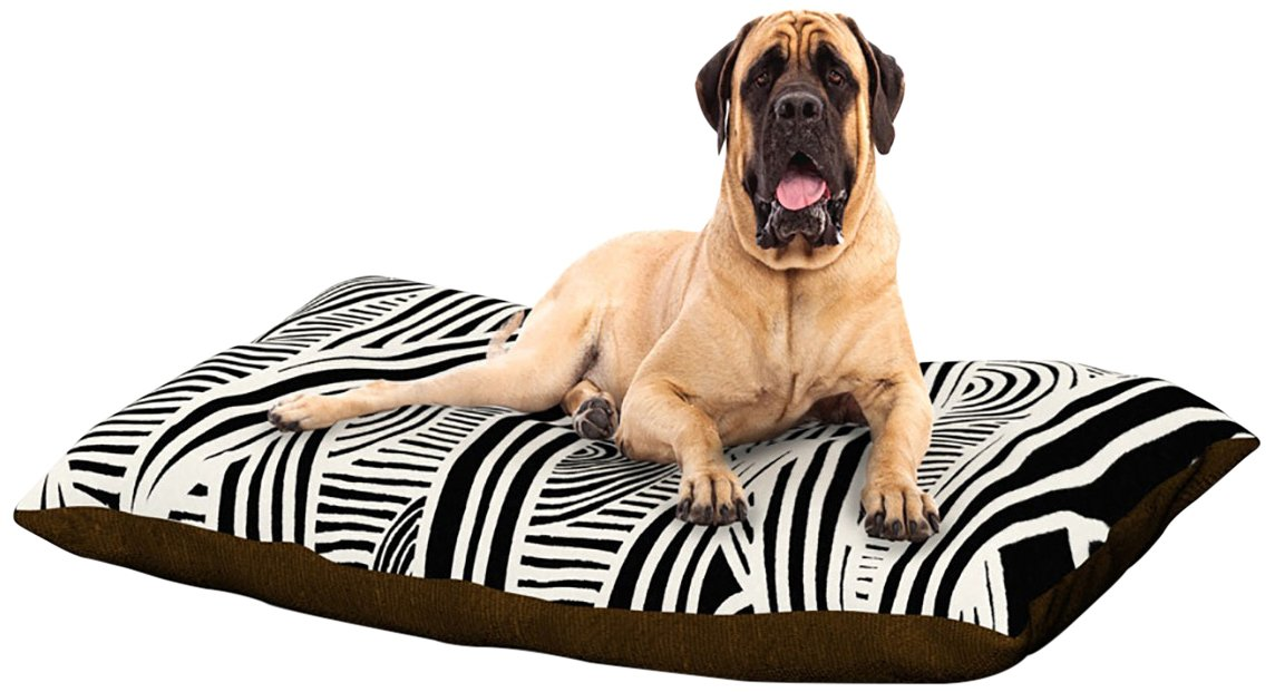 Graphique Black X-Large 40\ Graphique Black X-Large 40\ Kess InHouse Emine Ortega Graphique Black  Dog Bed, 50 by 60-Inch