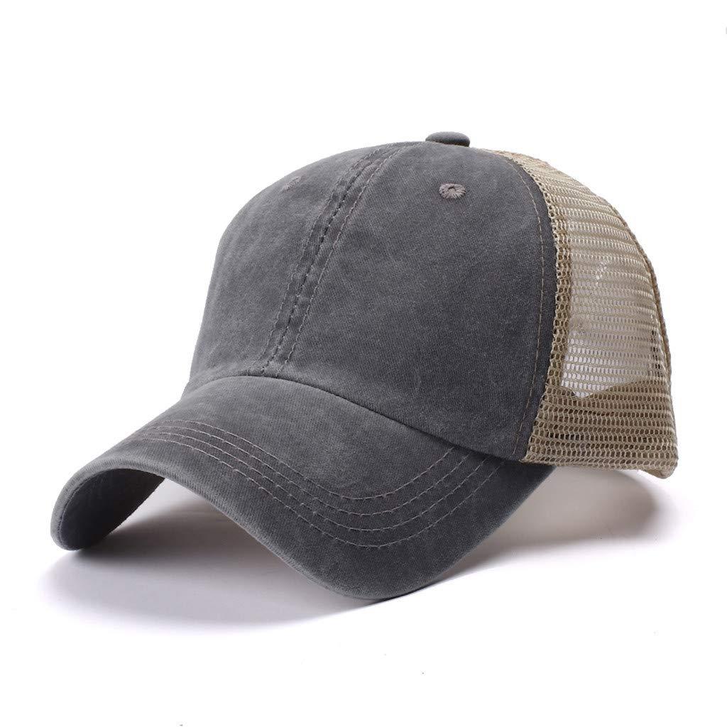 2019 Fashion Mesh Adjustable Outdoor Sun Hats Snapback Trucker Dad Athletic Caps Joopee Women Men Baseball Hat