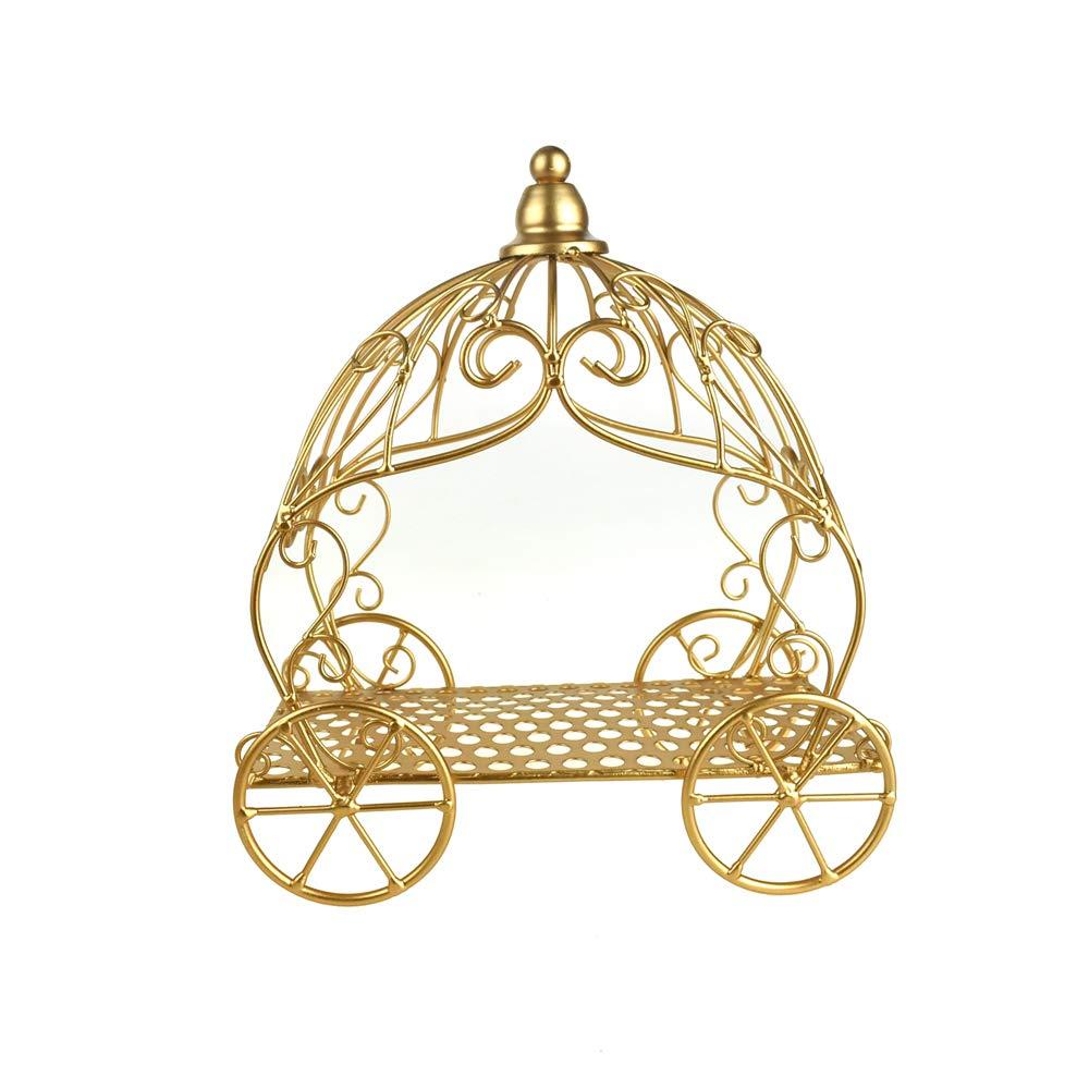 Homeford Metal Pumpkin Carriage, Gold, 12-Inch