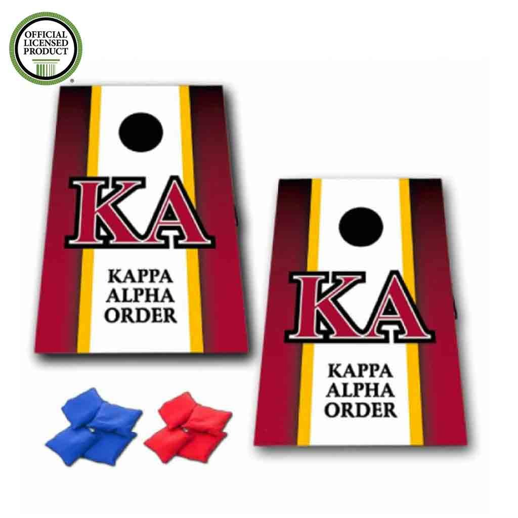 VictoryStore Cornhole Games - Kappa Alpha Order Cornhole Bag Toss Game - Vertical Stripe - 8 Bags Included by VictoryStore