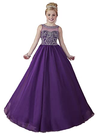 Amazon.com: HuaMei Girls\' Scoop A-Line Birthday Party Dresses Kids ...