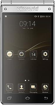 vkworld T2 Plus Flip Smartphone Teléfono Móvil con dual sim dual ...