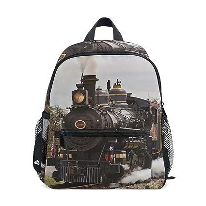 Mini Mochila Daypack Steam Engine Train Art Mochila Bolsa ...