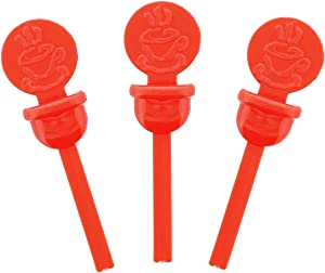 StixToGo Red Circle Beverage Plug for Disposable Lids, Case of 2000