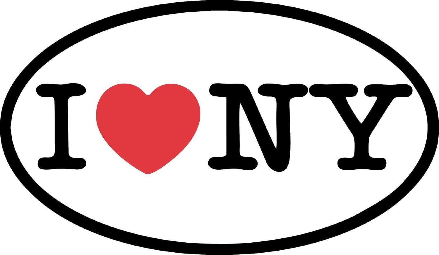 Indigos Ug Aufkleber Autoaufkleber Jdm Die Hart I Love Ny Bumper Sticker Heart New York Oval Car Decal 127mmx76mm Auto