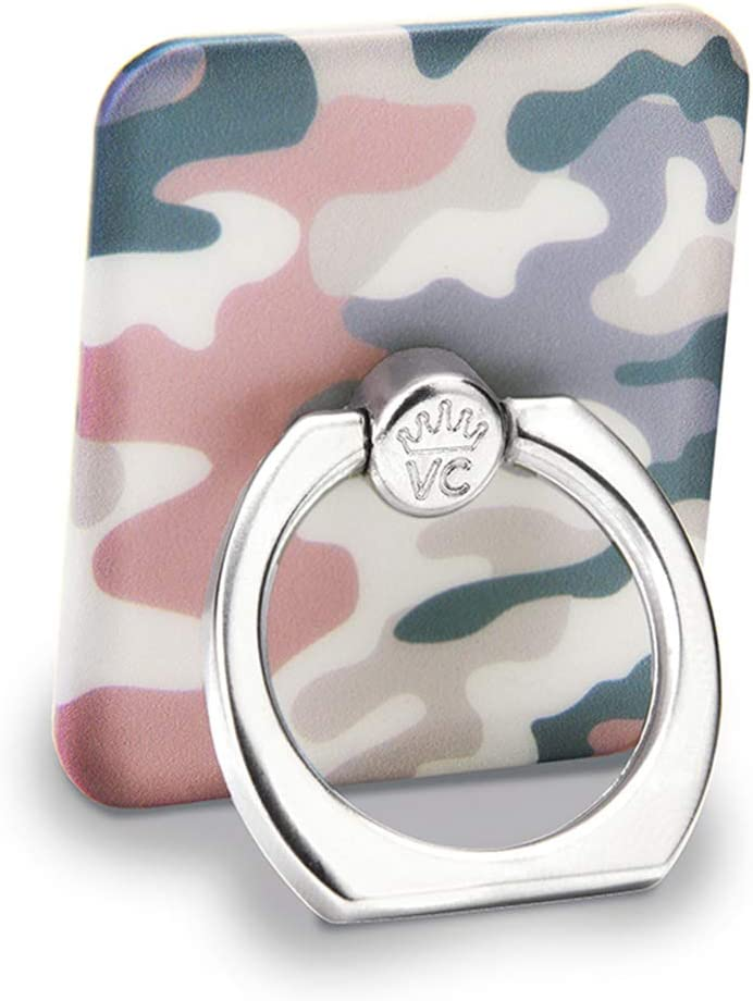 Velvet Caviar Cell Phone Ring Holder - Finger Ring & Stand - Improves Phone Grip Compatible with iPhone, Galaxy and Most Cases (Except Silicone/Leather) - Pink Blue Nude Camo
