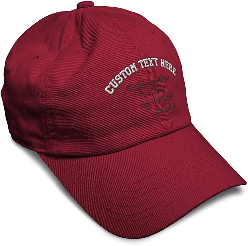 Custom Soft Baseball Cap Bible Psalm 18:1 Embroidery Dad Hats for Men /& Women