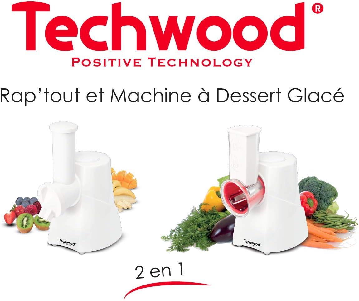Techwood - Cortador eléctrico 4 en 1 para cortar verduras, frutas, queso y hervidor 150 W-TRIC-1440, color blanco: Amazon.es: Hogar