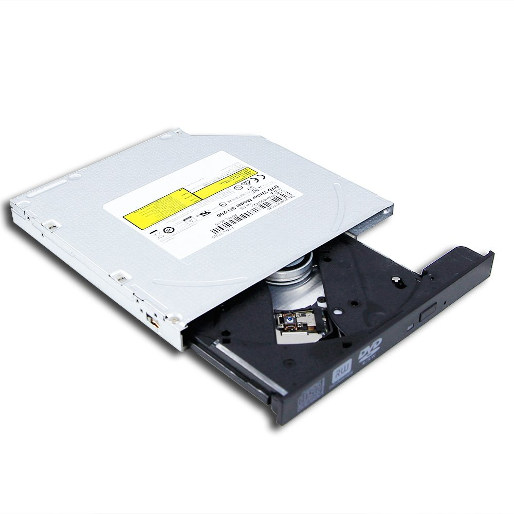 New Laptop Internal 8X DVD Player 12.7mm SATA Tray Optical Drive Dual Layer DVD-R DVD+-RW DL Burner 24X CD-R Recorder for Dell HP Lenovo Acer Asus Sony Vaio Samsung Toshiba Computer Replacement Parts