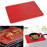 Premium Healthy Chef Baking Mat - Raised Pyramid Non-Stick Baking Sheet - Red