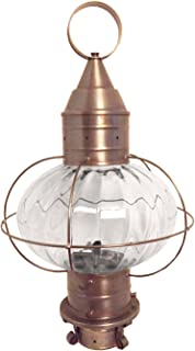 product image for Brass Traditions 610-OPT-DAC Large Onion Post Lantern Optic Globe, Dark Antique Copper Finish Optic Globe Onion Post Lantern