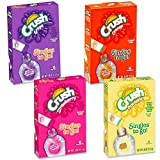 Crush Drink Mix Singles To Go Variety Pack -- 4 Boxes (Pineapple, Grape, Strawberry, Orange)