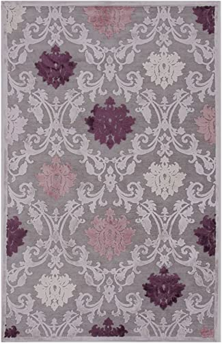 Jaipur Rugs Rectangular Floral Area Rug 7 ft. 6 in. L x 5 ft. W