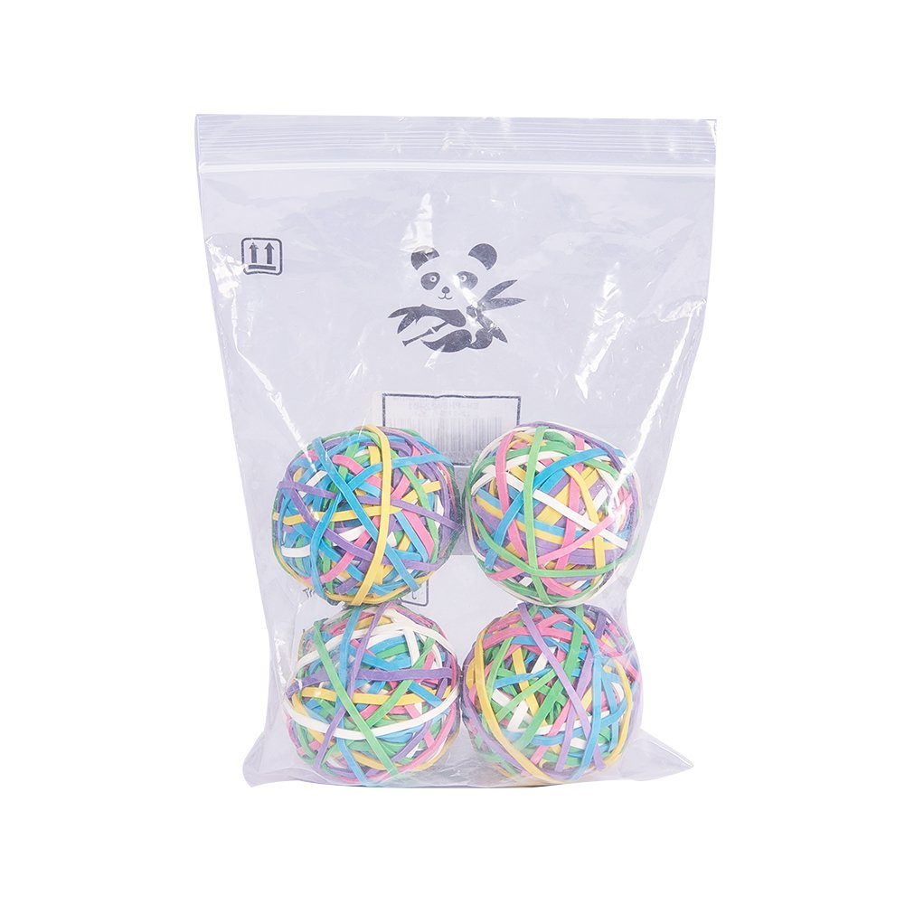 elastische und dehnbare Gummib/änder f/ür Haare und zum Basteln 4er-Set insgesamt 800 St/ück Nbeads Ball mit bunten Gummis 200 St/ück pro Ball