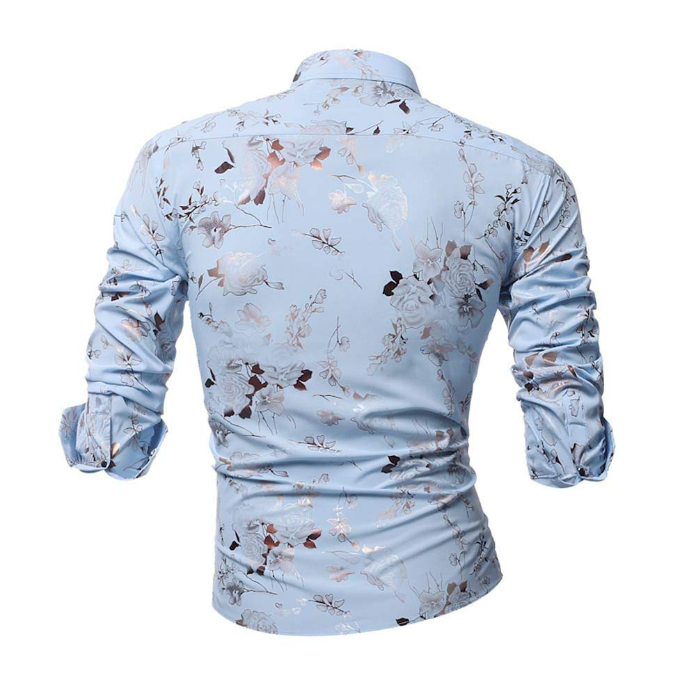 Blusa de Hombre, Polo de Hombre, Camisetas de Hombre, BaZhaHei, Manga Larga La Blusa Superior Impresa de Manga Larga Delgada Impresa Ocasional de la ...