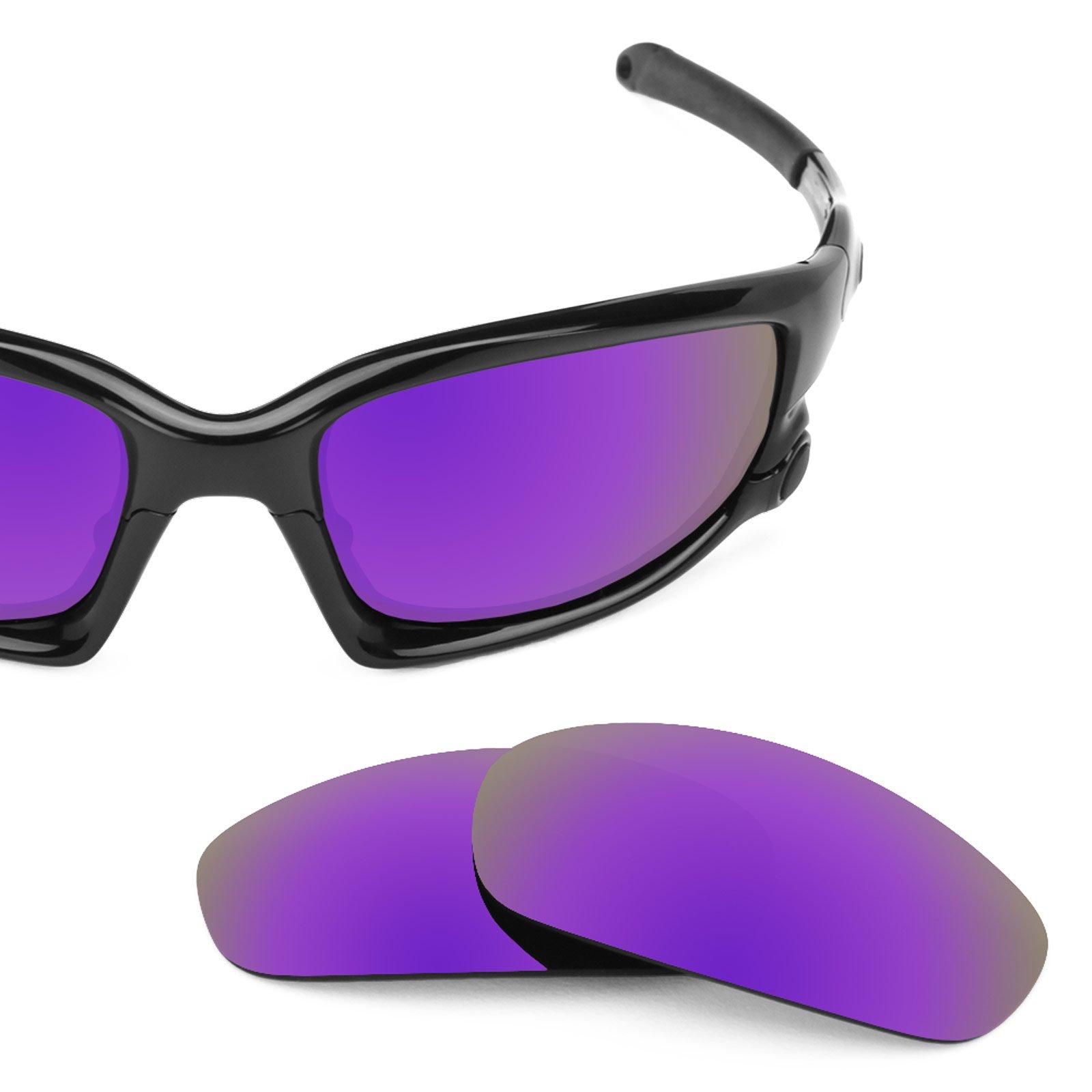 Revant Polarized Replacement Lenses for Oakley Split Jacket Plasma Purple MirrorShield