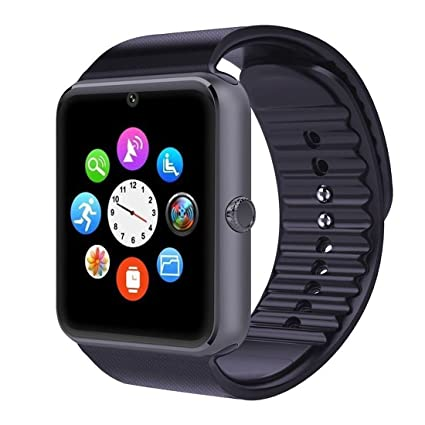 Eeoo GT08 Bluetooth 3.0 Smart Watch with Camera Sim- Gray/Black
