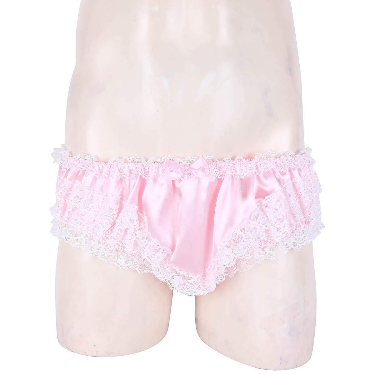 iixpin Herren Spitze Unterw/äsche G-String M/änner Satin Strumpfhalter Bikini Slips Thong Tanga Reizvoll String Sissy Unterhose Underwear Boxer