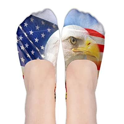US Flag Patriotic Eagle Female Polyester Cotton Socks Women Boat Socks Thin Casual Socks Low Cut Socks