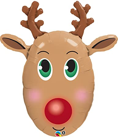 Rudolph Reindeer Head Clipart