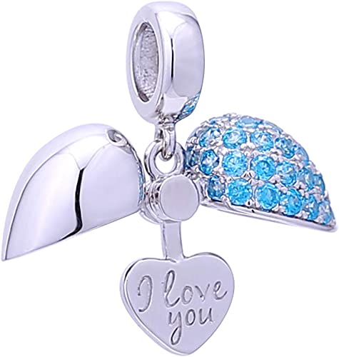 I Love You More Stainless Steel Charms Smaller Size Heart BFS1823