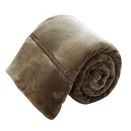 Amazon.com: Simple Solid Color Blanket Winter Coral Fleece ...