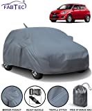 Fabtec Car Body Cover for Maruti Swift (2012-2017) with Mirror Antenna Pocket & Storage Bag Combo (Heavy Duty)