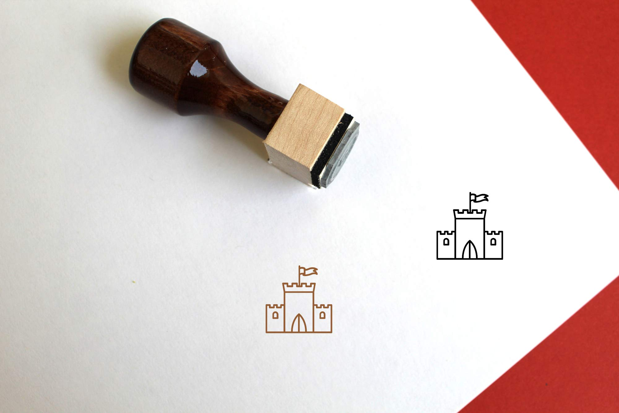 Castle Rubber Stamp (3'' x 3'')