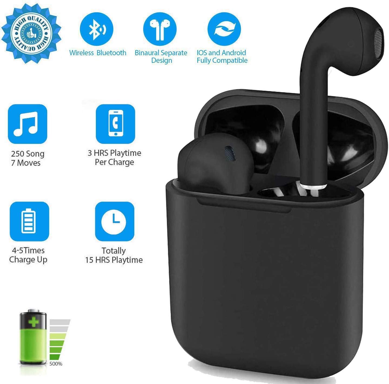 i12 - TWS Auriculares Bluetooth 5.0, Toque Inteligente Auriculares inalámbricos, Auriculares Deportivos Impermeables IPX7, Auriculares estéreo 3D-HiFi, Emparejamiento emergente automático