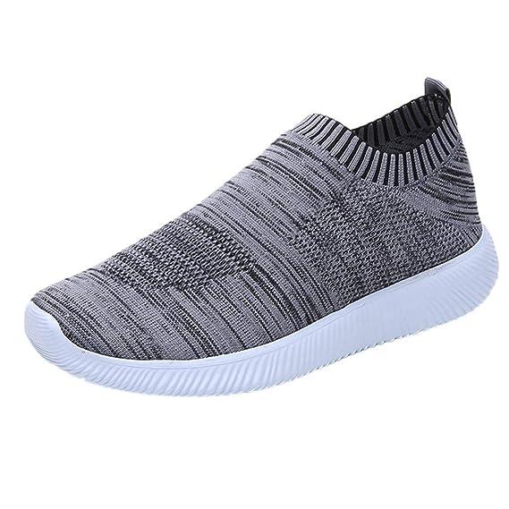 0924d8e280 Sneakers Mujer Negras,YiYLunneo Mujeres Al Aire Libre Zapatillas Zapatos De  Malla Resbalón Casual En Soles CóModos Zapato Shoes Deportivas CN 35-43: ...