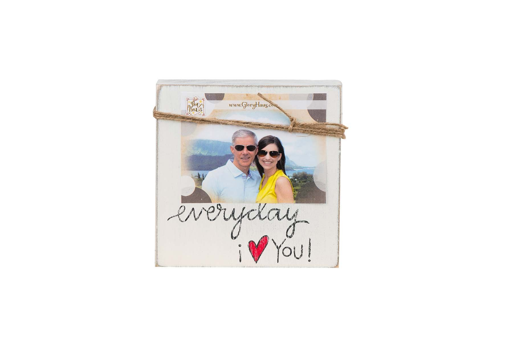 Glory Haus Everyday I Love You Twine Frame, Multicolor by Glory Haus
