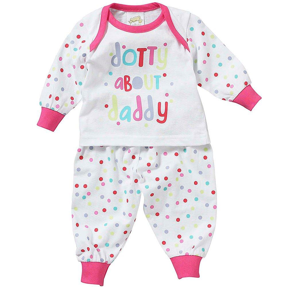 Lullaby Baby Girls I Love You Mummy Dotty About Daddy Long Sleeve Pyjamas